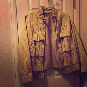 Ruffled jacket